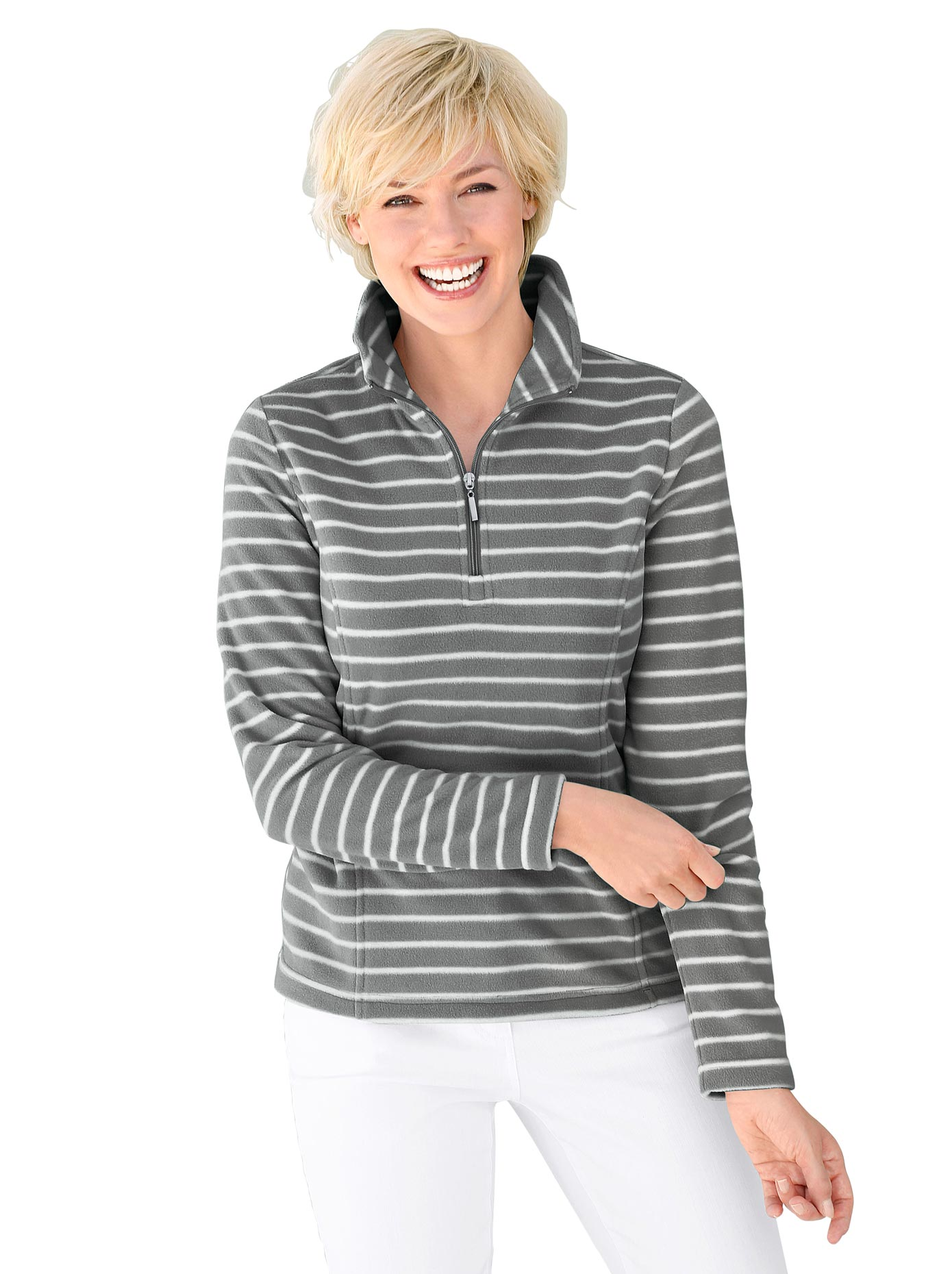 Casual Looks Fleece-Shirt mit Antipilling-Ausrüstung   Bekleidung > Sweatshirts & -jacken > Fleeceshirts   Grau   Fleece   Casual Looks