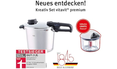 Fissler Schnellkochtopf »vitavit® premium Schnellkochtopf 6l inkl. GRATIS finecut®«,... kaufen