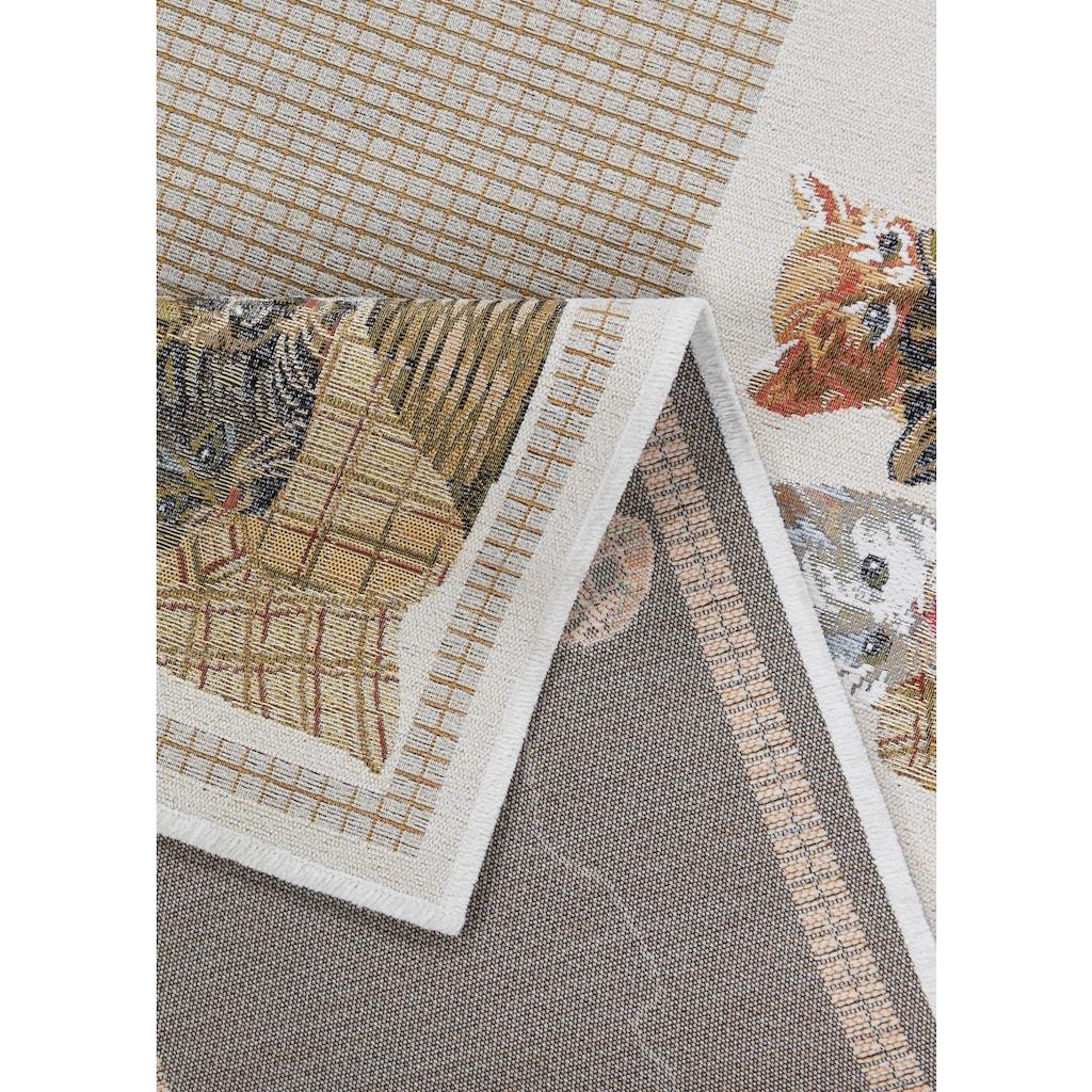 Teppich, »Flomi Kitten«, THEKO, rechteckig, Höhe 4 mm, maschinell gewebt