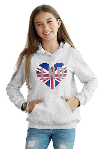Arizona Kapuzensweatshirt, mit Veloursdruck kaufen