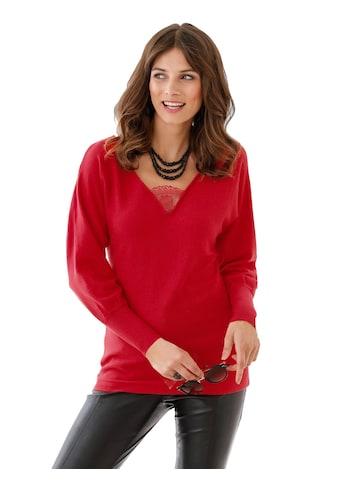 Alessa W. Pullover mit transparentem Spitzen - Einsatz kaufen