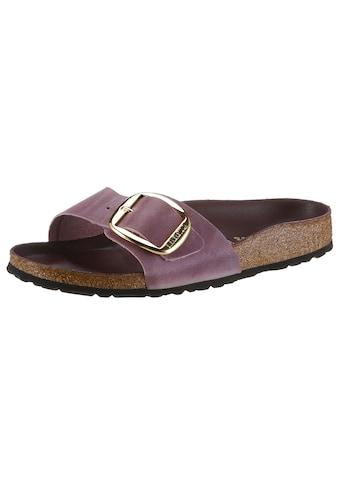 Birkenstock Pantolette »MADRID BIG BUCKLE«, mit ergonomisch geformtem Fußbett, in schmaler Schuhweite kaufen