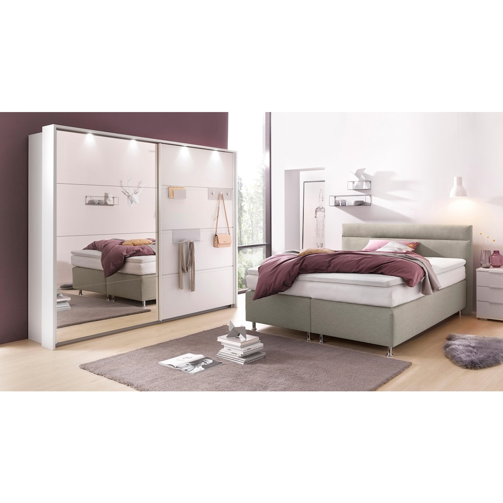 Westfalia Schlafkomfort Boxspringbett, wahlweise mit LED-Beleuchtung
