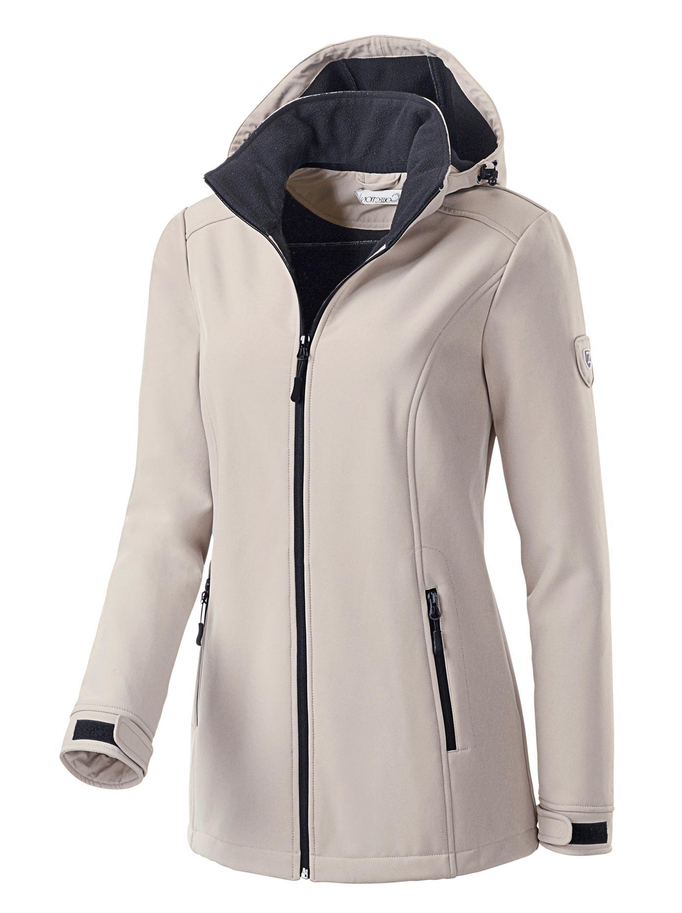 Casual Looks Softshelljacke mit Innenseite aus wärmendem Fleece | Bekleidung > Jacken > Softshelljacken | Grau | Casual Looks
