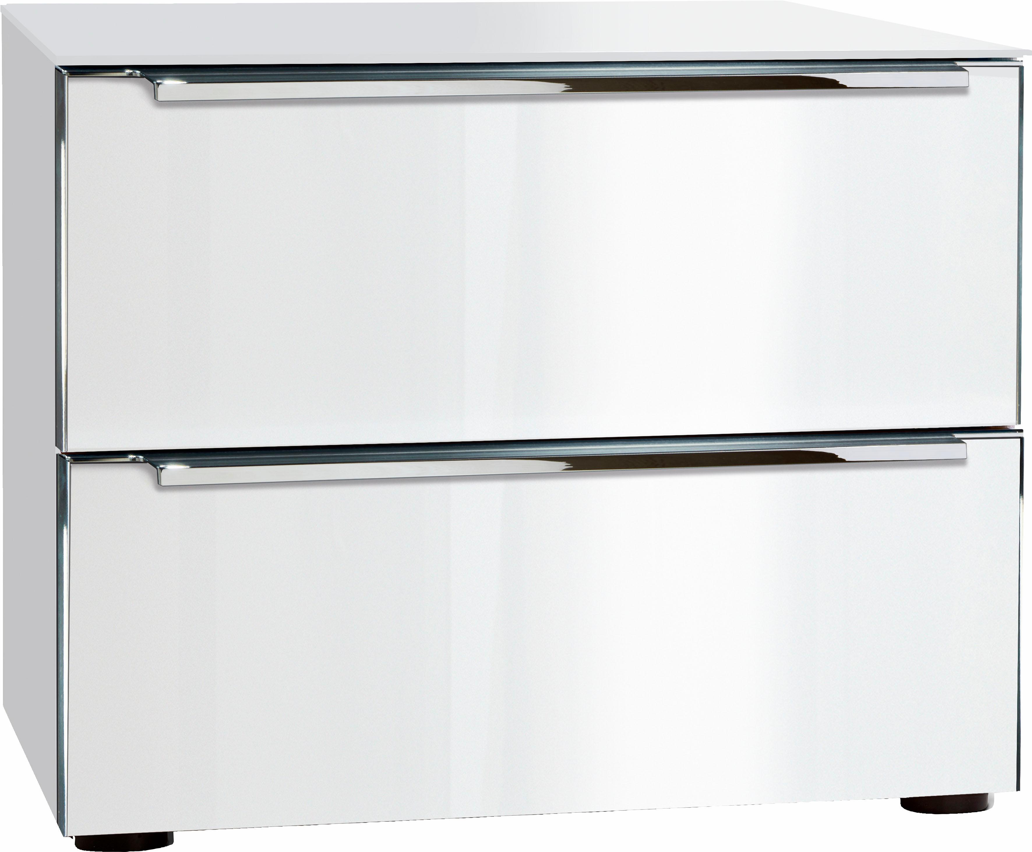 nolte® Möbel Nachttisch»Alegro Style«, Breite 50 cm | Schlafzimmer > Nachttische | Weiß | Nussbaum - Glas | NOLTE® MÖBEL