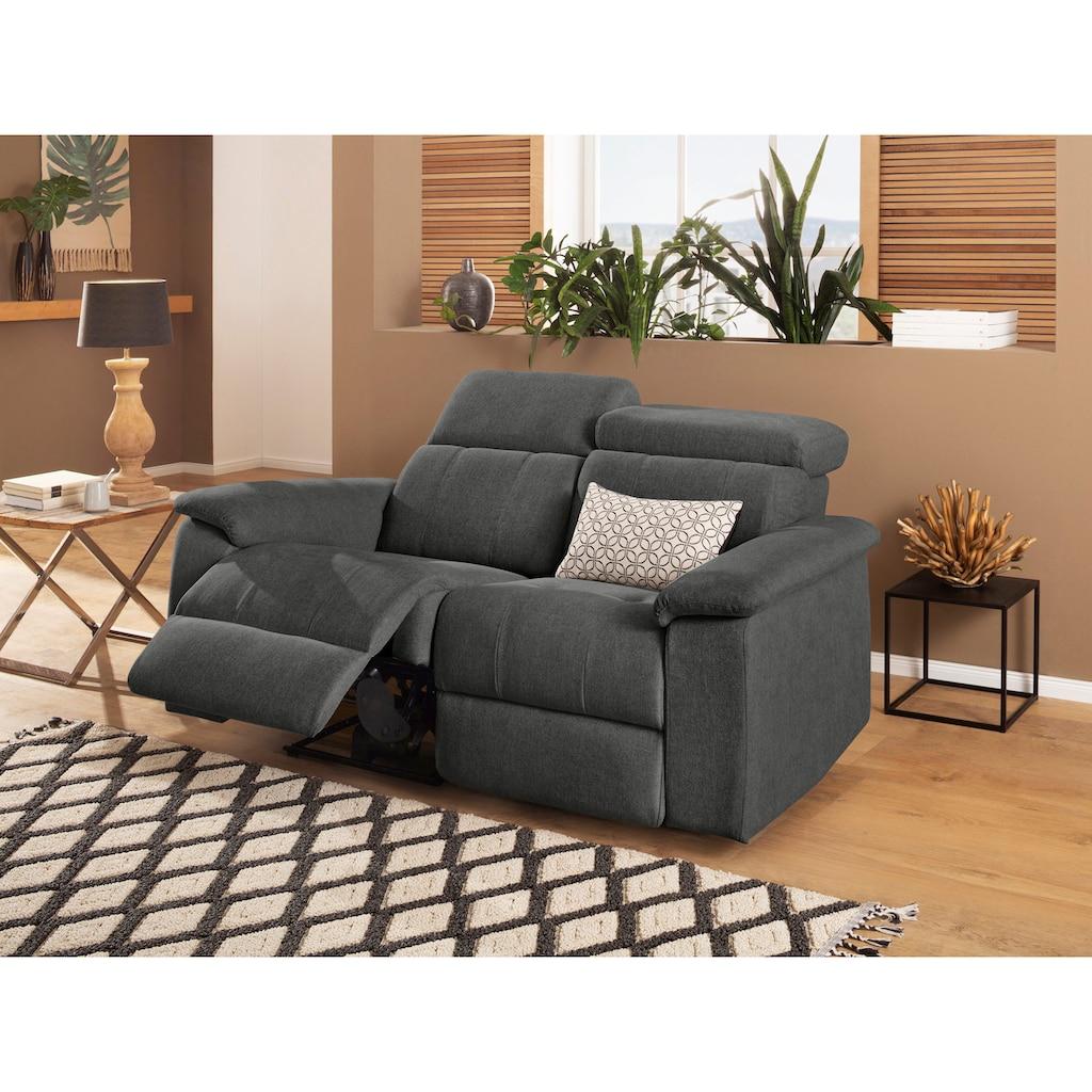 Home affaire 2-Sitzer »Binado«, Wahlweise mit manueller oder elektrischer Relaxfunktion mit USB-Anschluss, Federkern-Polsterung