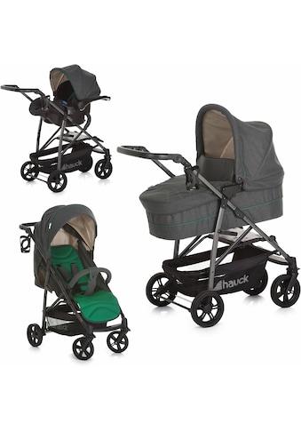 Hauck Kombi-Kinderwagen »Rapid 4S Plus Trio Set Caviar Emerald«, mit Babyschale kaufen