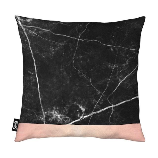 Dekokissen, »Black Marble Pink Edition«, Juniqe