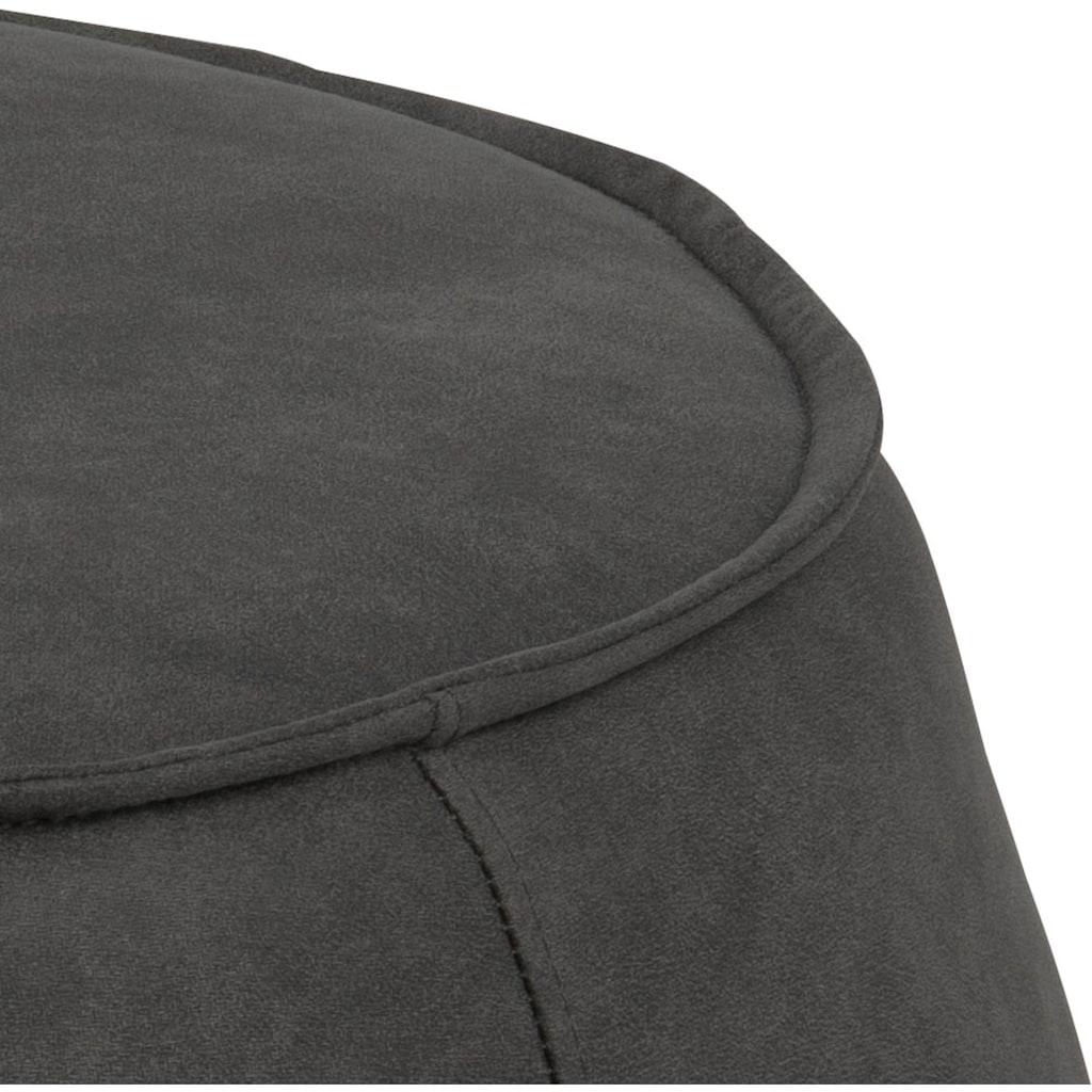 andas Pouf »Siljan«, mit einem pflegeleichten Webstoff Bezug, Rund Ø60, Höhe 34 cm