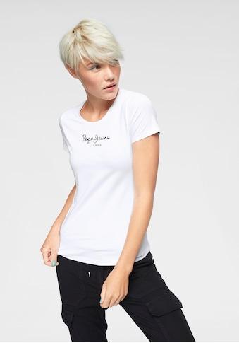 Pepe Jeans T-Shirt »NEW VIRGINIA«, mit Logo-Print kaufen