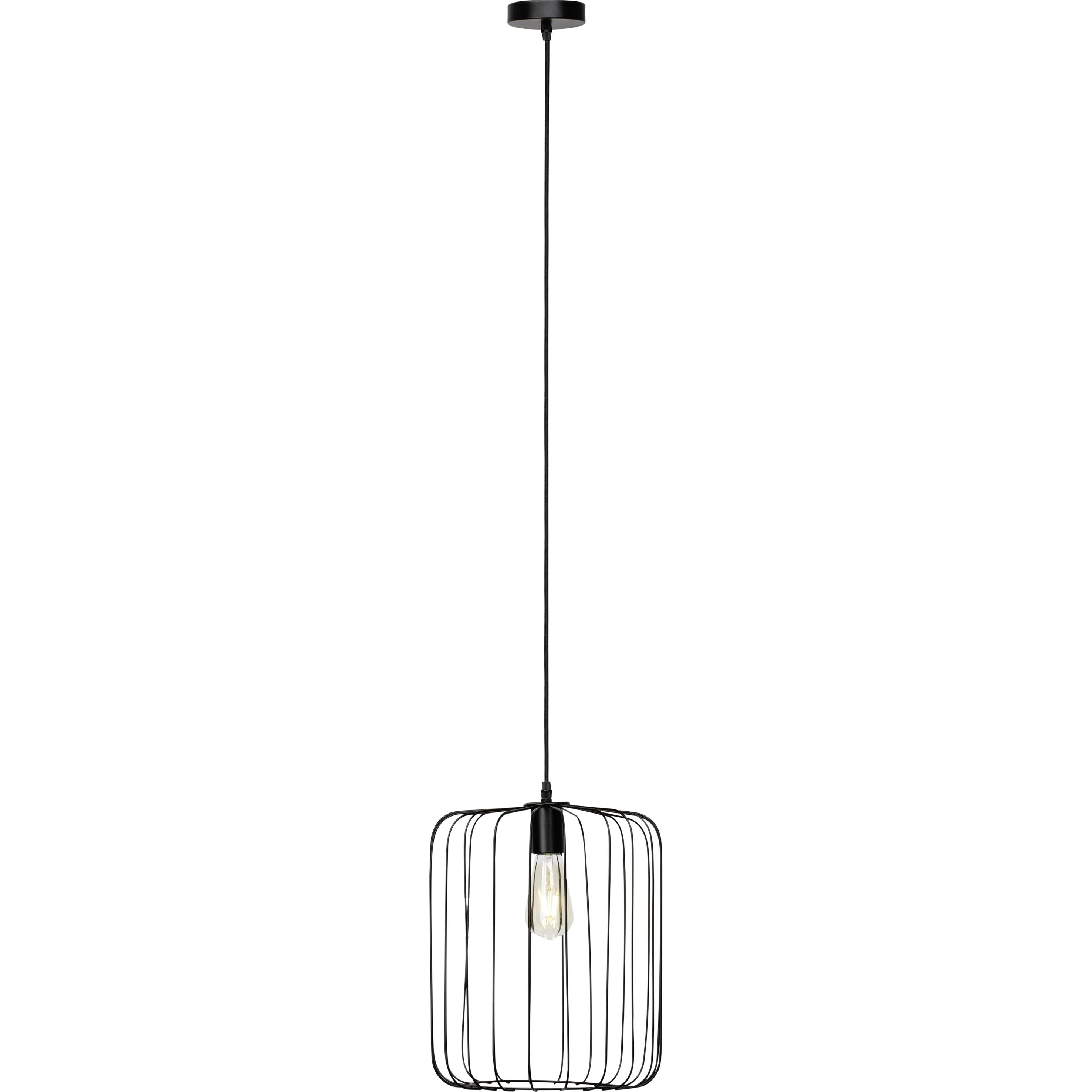 Brilliant Leuchten Flavian Pendelleuchte 32cm schwarz matt