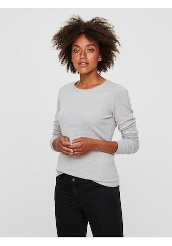 Vero Moda Rundhalspullover »VMCARE«, aus Bio-Baumwolle kaufen