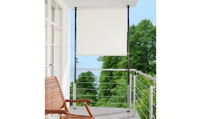 Angerer Freizeitmöbel Klemm-Senkrechtmarkise, beige, BxH: 120x275 cm kaufen