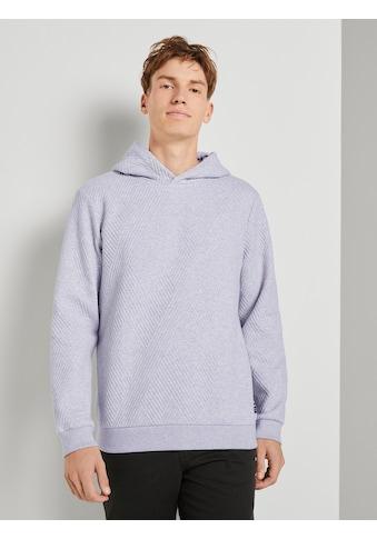 TOM TAILOR Denim Kapuzensweatshirt »Hoodie mit Strukturmuster« kaufen