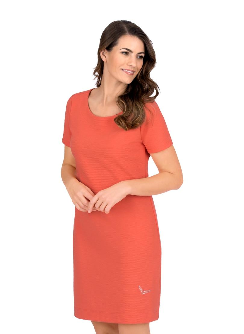 Trigema Halbarm Kleid mit Swarovski Kristallen orange Damen Minikleider Kleider