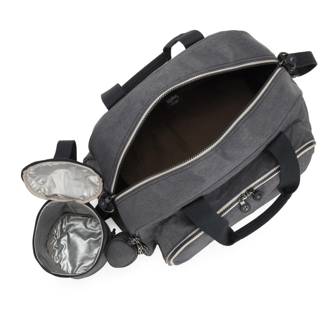 KIPLING Wickeltasche »Camama, Charcoal«, mit Wickelauflage, Flaschen- und Schnullerhalter