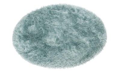 merinos Hochflor-Teppich »Glossy 412«, rund, 70 mm Höhe, besonders weich durch... kaufen