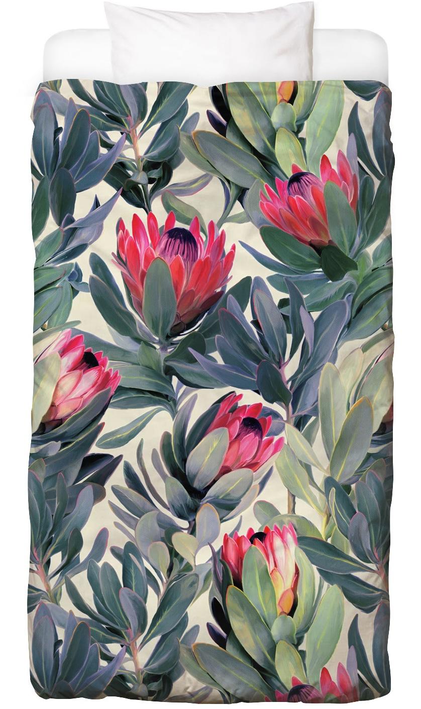 Bettwäsche Painted Protea Pattern Juniqe