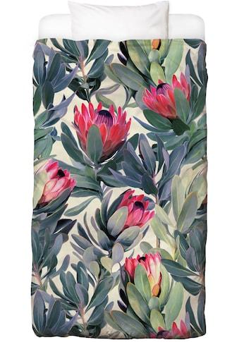 Bettwäsche »Painted Protea Pattern«, Juniqe kaufen