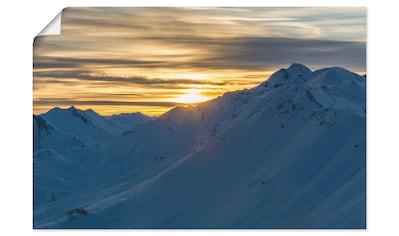 Artland Wandbild »Sonnenuntergang über Bergen«, Berge, (1 St.), in vielen Größen &... kaufen