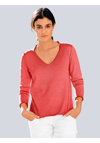 Alba Moda V-Ausschnitt-Pullover, im Oildye-Look kaufen