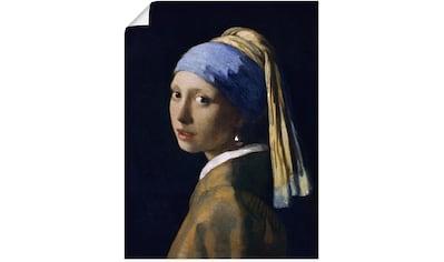 Artland Wandbild »Das Mädchen mit dem Perlenohrgehänge«, Frau, (1 St.), in vielen... kaufen