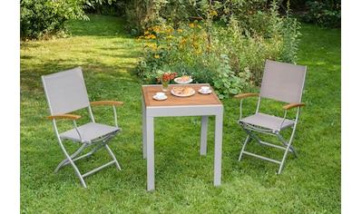 MERXX Gartenmöbelset »Naxos«, 3tlg., 2 Sessel, Tisch, klappbar, ausziehbar, Akazie kaufen