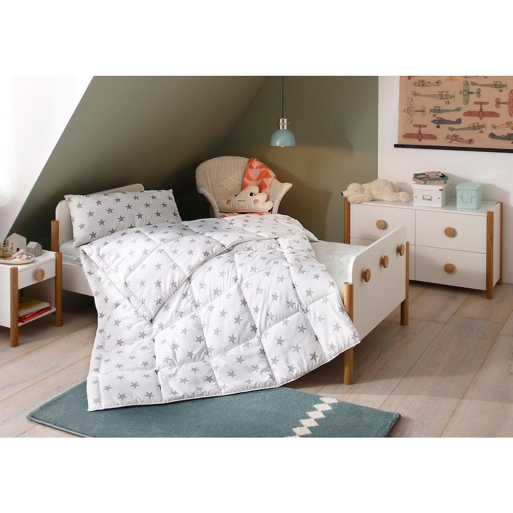 Lüttenhütt Kinderbettdecke + Kopfkissen »Stern«, (Spar-Set), Hohes Bauschvolumen