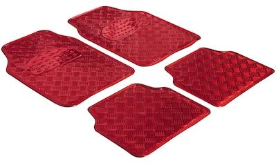 WALSER Set: Autogummimatte »Metallic Riffelblech look«, 4 - tlg. kaufen