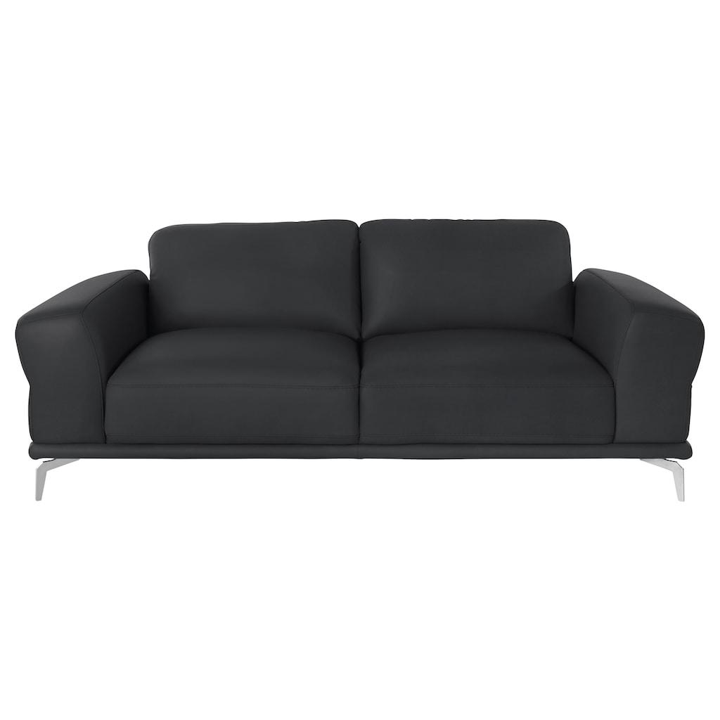 W.SCHILLIG 2,5-Sitzer »montanaa«, mit Metallfüßen in Chrom glänzend, Breite 212 cm