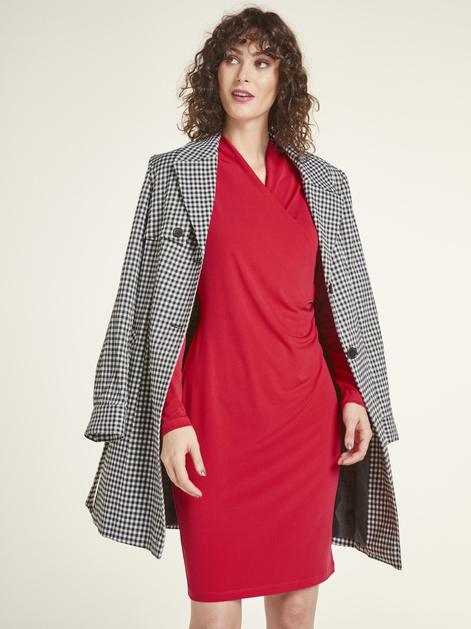 heine TIMELESS Jerseykleid mit Zierschnalle