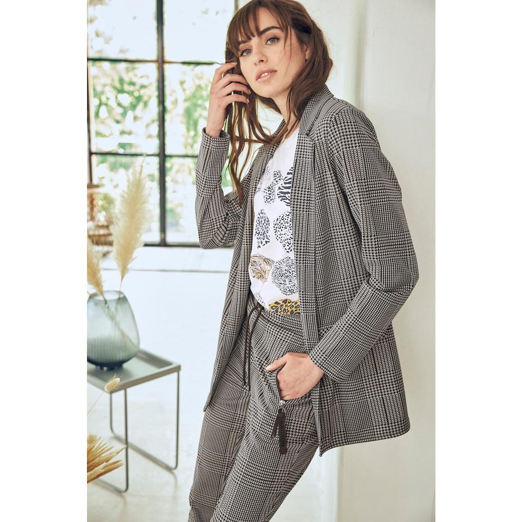 Aniston CASUAL Longblazer, im trendigem Karo-Dessin - NEUE KOLLEKTION