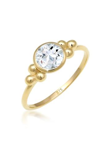 Elli Fingerring »Verlobungsring Kugeln Topas Edelstein 375 Gelbgold« kaufen