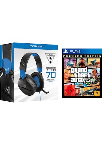 GTA V  -  Grand Theft Auto V Premium Edition + Turtle Beach 70P PlayStation 4 kaufen