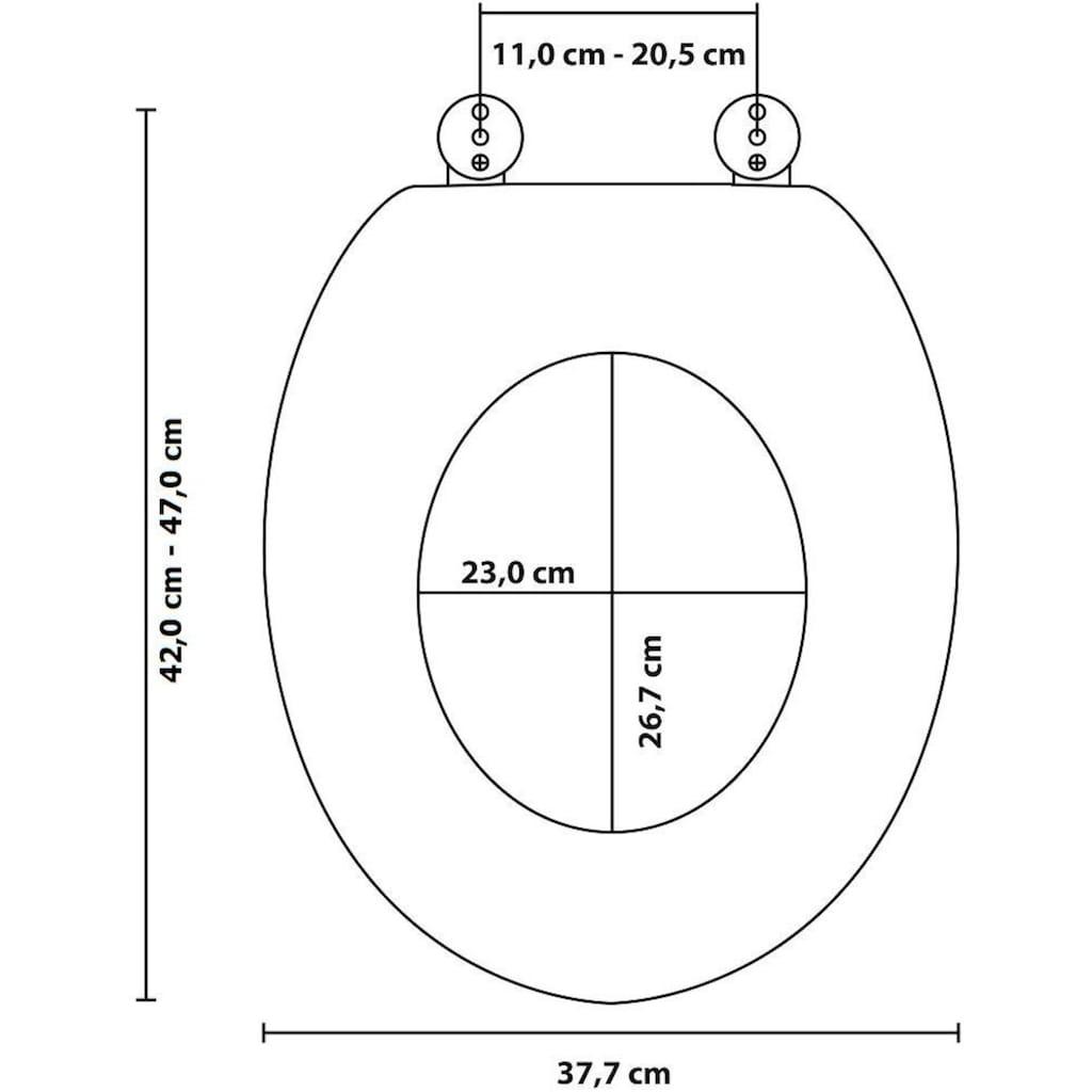 Sanilo WC-Sitz »Granit«, mit Absenkautomatik