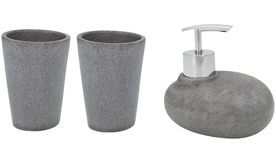 Wenko Bad - Accessoire - Set »Pebble Stone«, 3 - teilig kaufen
