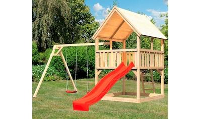 ABUKI Spielturm »Lenie«, BxTxH: 440x264x345 cm, mit Schaukel, Sandkasten, Rutsche kaufen