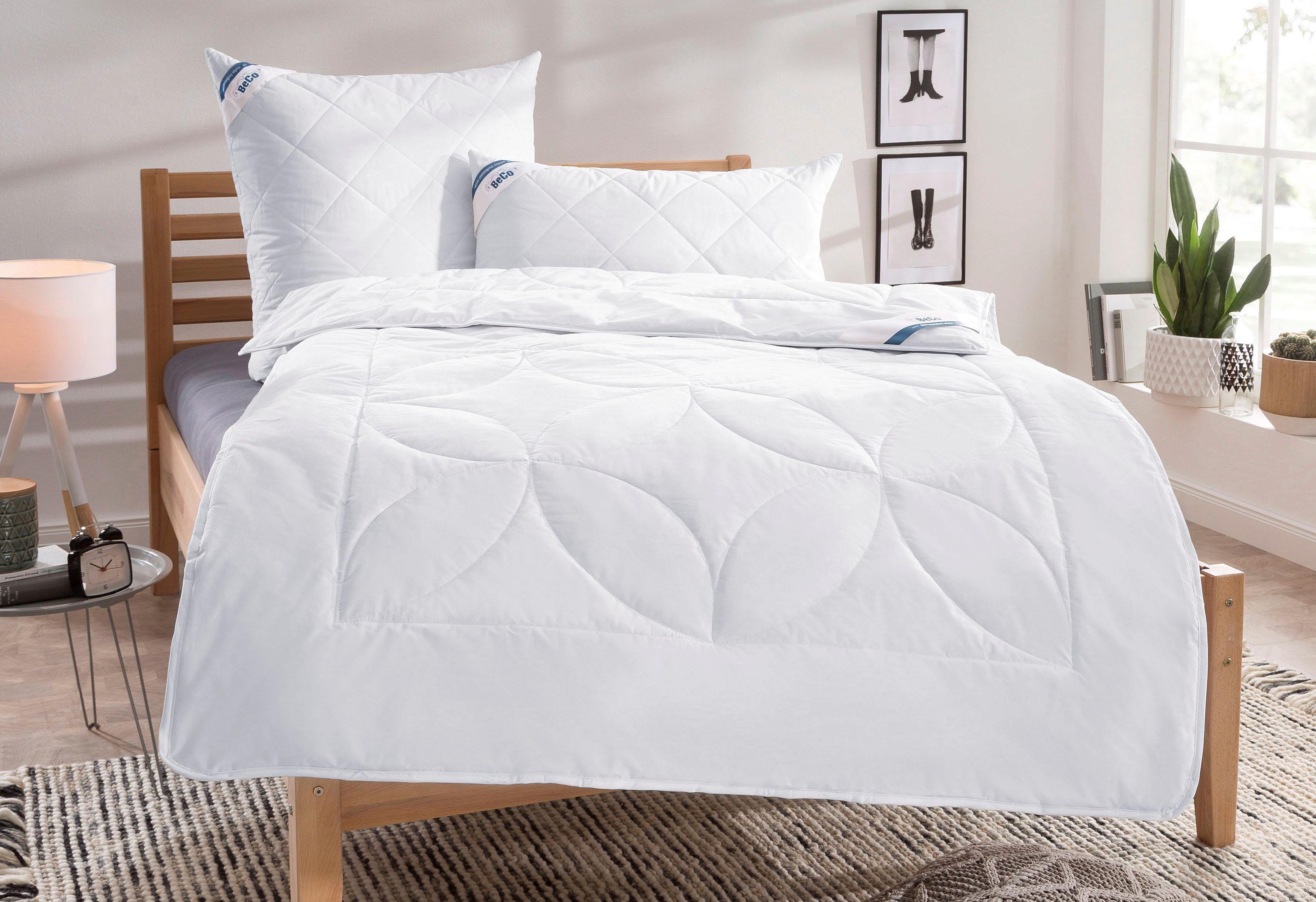 Bettdeckenset BeCo Schurwolle 100 Beco 4-Jahreszeiten - natürliches Bettklima und waschbar bis 30°