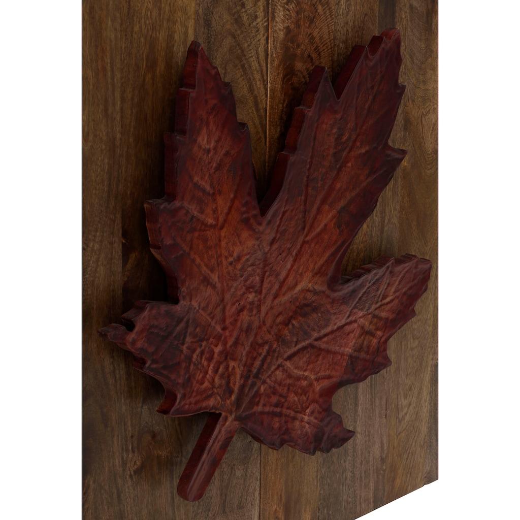 Home affaire Sideboard »Maple«, Griff in Form eines Ahornblattes, handgefertigt, aus massivem Mangoholz, Breite 100 cm