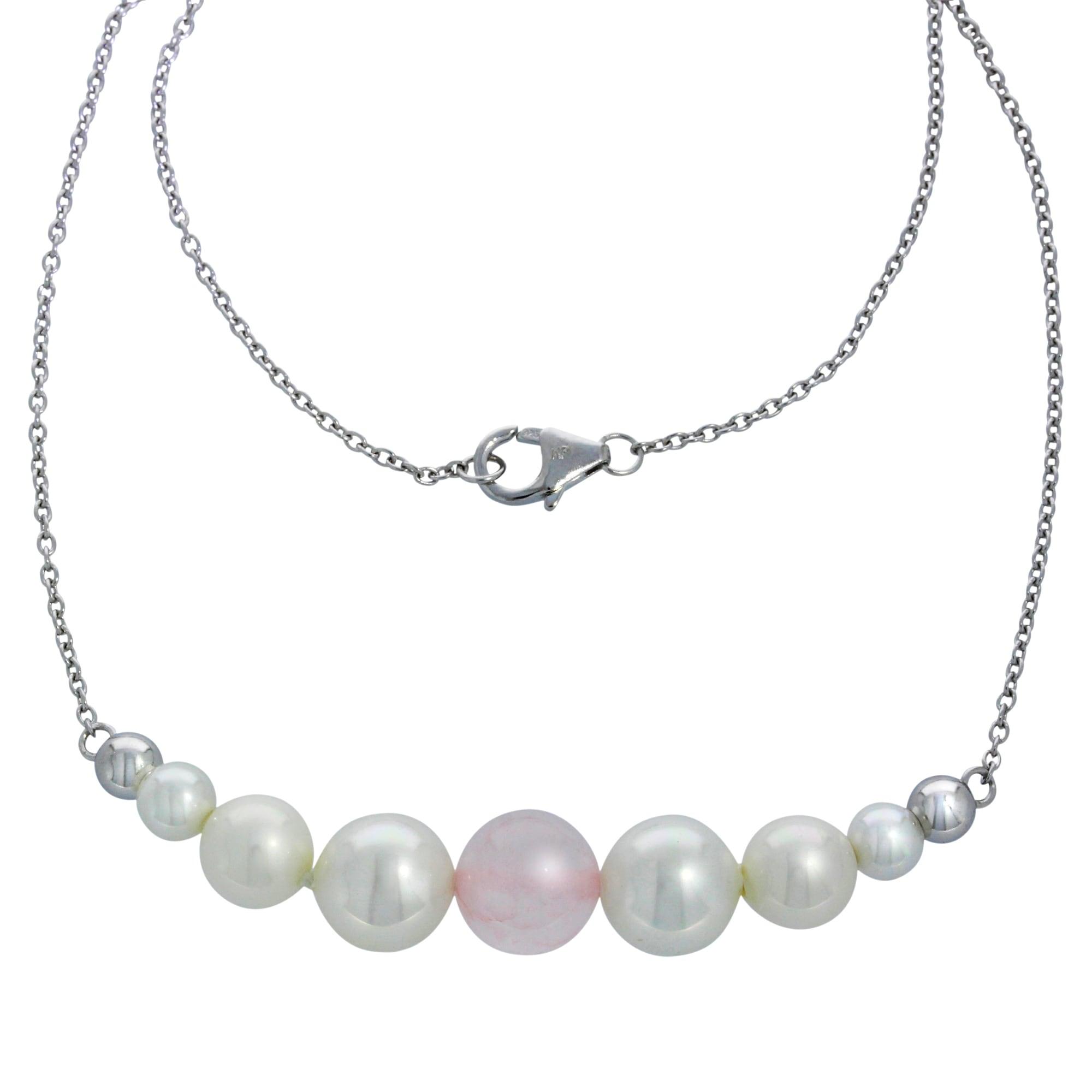 Firetti Collier »925/- Sterling Silber Perlen &...