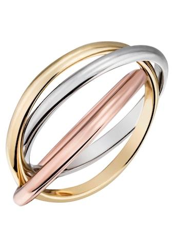 Firetti Goldring »verschlungene Tricolor-Optik, glanzvoll, massiv« kaufen