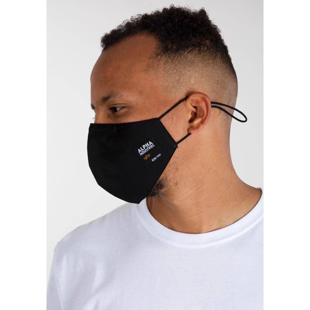 Alpha Industries Mund-Nasen-Masken, Verstellbare Elastikbänder