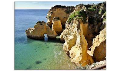 Artland Glasbild »Felsalgarve bei Silves«, Küste, (1 St.) kaufen