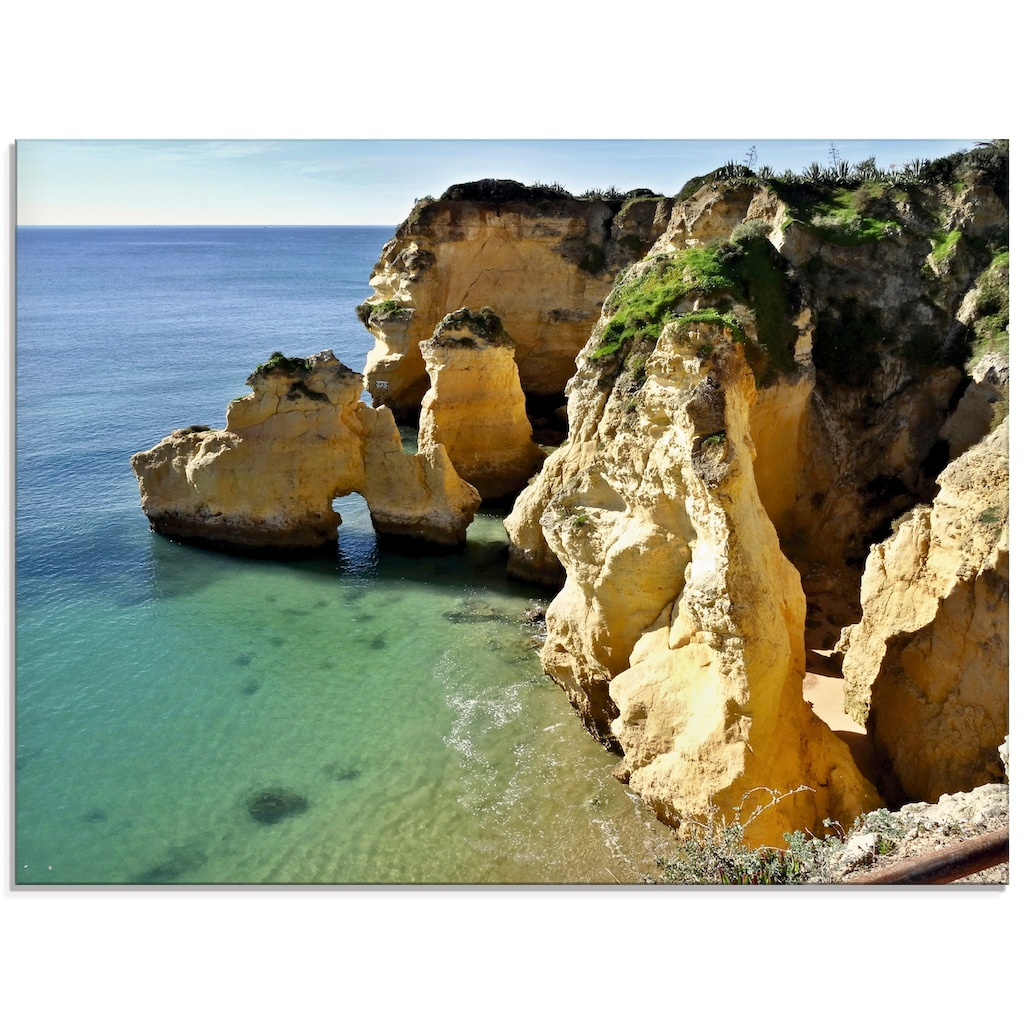 Artland Glasbild »Felsalgarve bei Silves«, Küste, (1 St.)