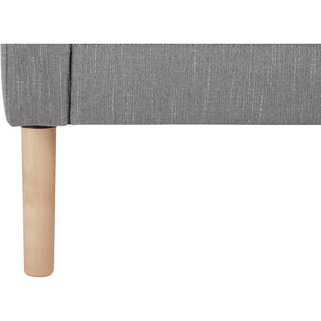 andas 3-Sitzer »Grenzda«, Füße aus Massivholz, Breite 214 cm