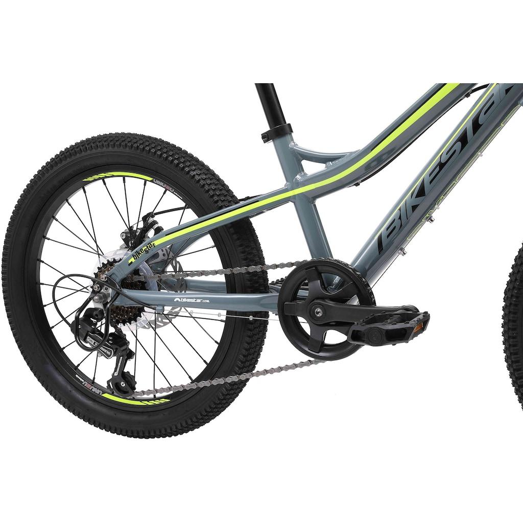 Bikestar Mountainbike, 7 Gang, Shimano, RDTY21 Schaltwerk, Kettenschaltung