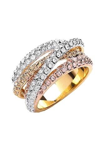 Buckley London Ring 3 - fbg. vergoldet mit Kristallen kaufen