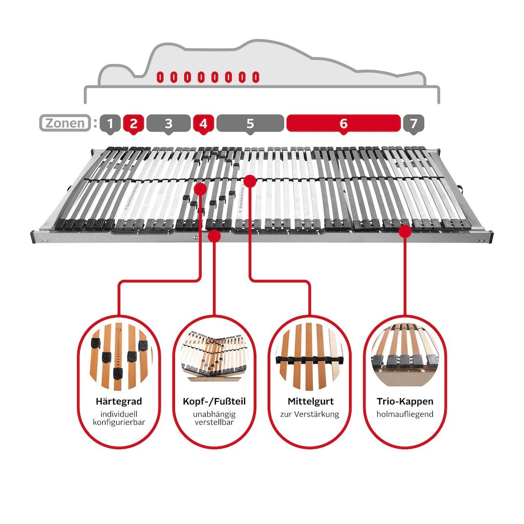 DELAVITA Lattenrost »Tjark«, 42 Leisten, Kopfteil manuell verstellbar, Lattenrost mit 42 Federleisten sorgt für optimalen Liegekomfort