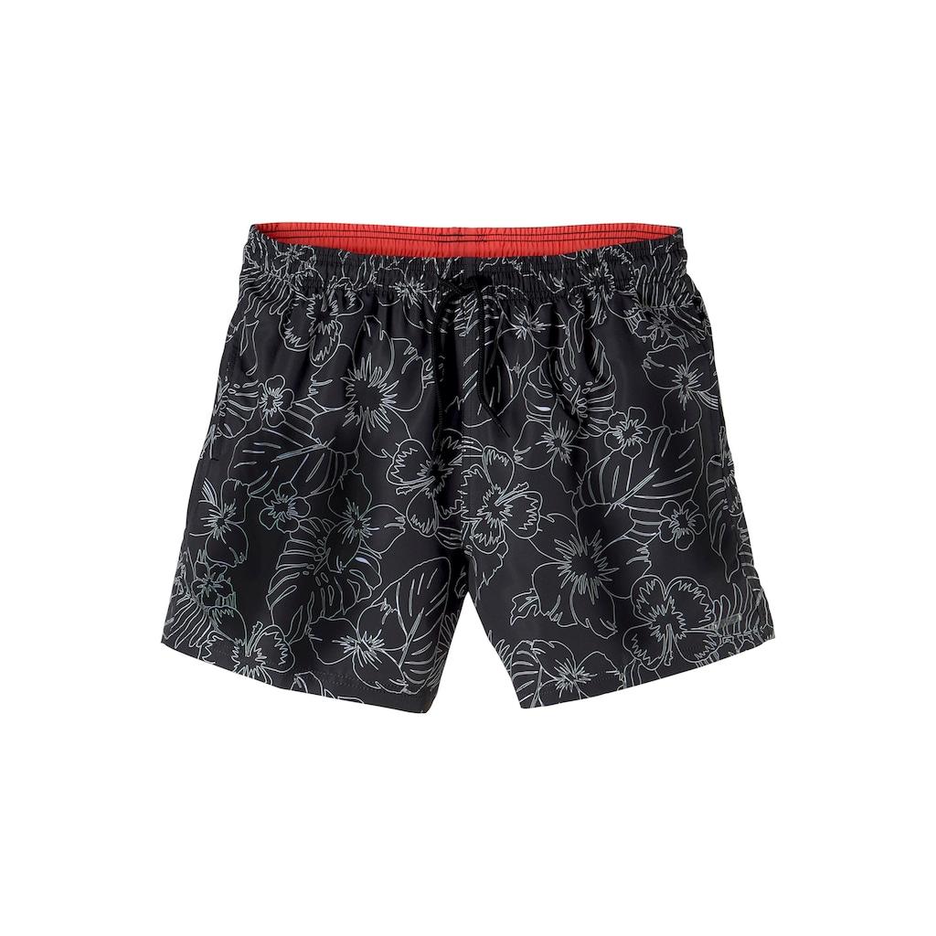s.Oliver Beachwear Badeshorts, mit modernem Print