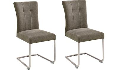 MCA furniture Freischwinger »Calanda«, Esszimmerstuhl mit Aqua Clean Bezug, Nosag Federung, belastbar bis 120 kg kaufen